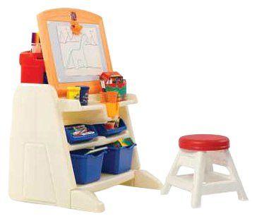 Flip U0027N Doodle Easel Desk With Stool     Toys
