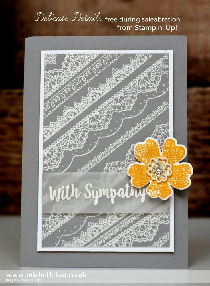 Delicate Details from Stampin' Up! free during saleabration - with Michelle Last