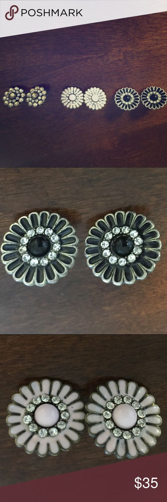 3 Nordstrom Luxe Floral Earrings Gorgeous, super high quality costume jewelry from Nordstrom Nordstrom Jewelry Earrings