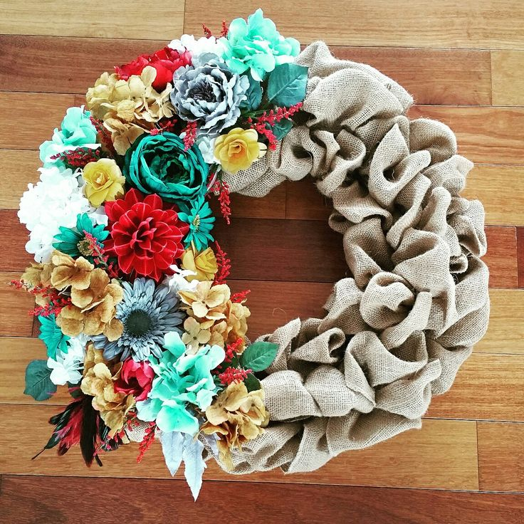 12 best wreaths for nurses images on pinterest christmas for How to make a spring wreath from scratch