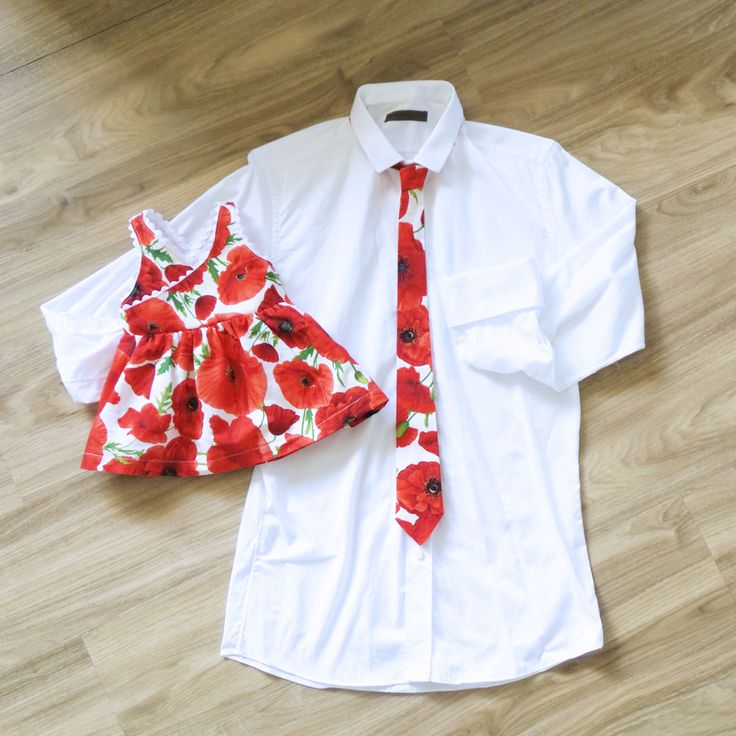 Poppies Bloom Daddy's matchy-matchy thin tie and wedding-ready! ❤️ #homemade #baby #babydress #poppies #matchingmum #matchingdad #matchymatchy #weddingguests