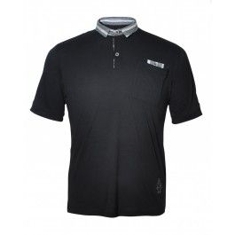 PUNKER POLO (BLACK/CHARCOAL) - Polo Shirts - Menswear