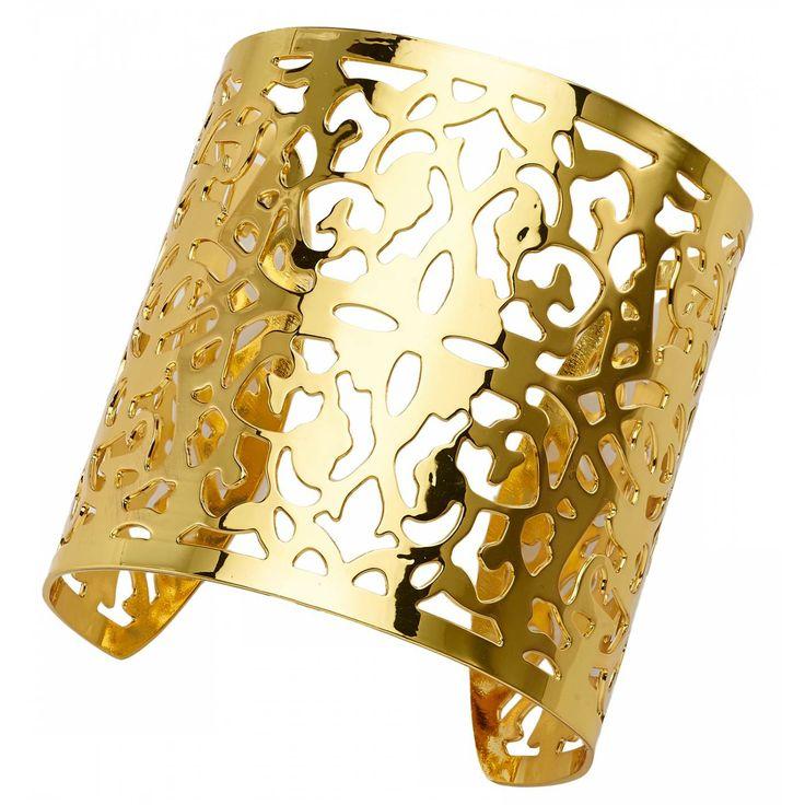 Ladies bronze Arabesques gold bangles - Franchini