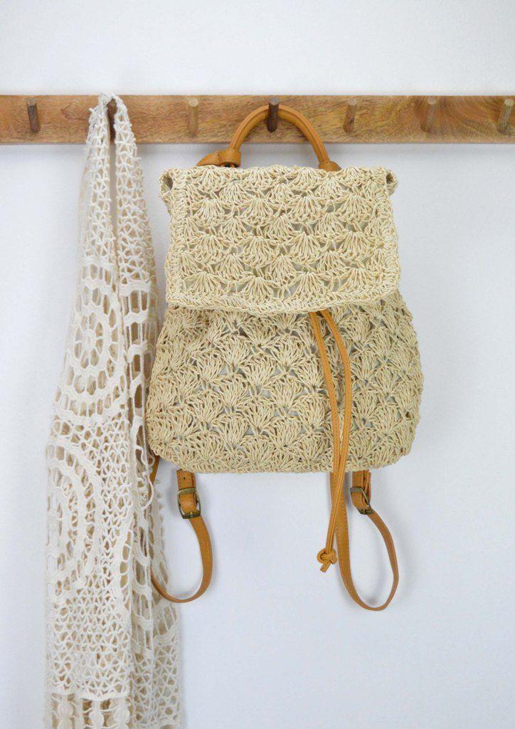 c0c5f65e1d4 Τσάντα σακίδιο πλάτης ψάθινο   Bamboo - Straw Bags   Bags, Straw Bag ...