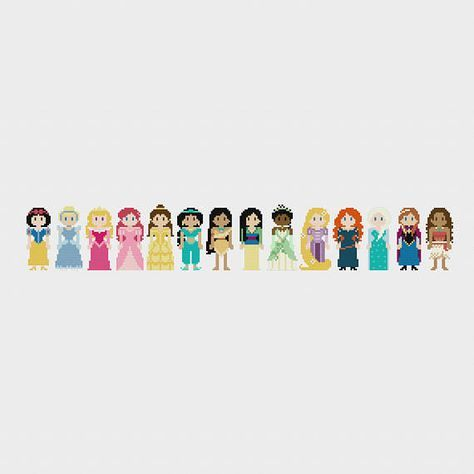 UPDATED 2017 Disney Princess Once Upon A Time Cross Stitch