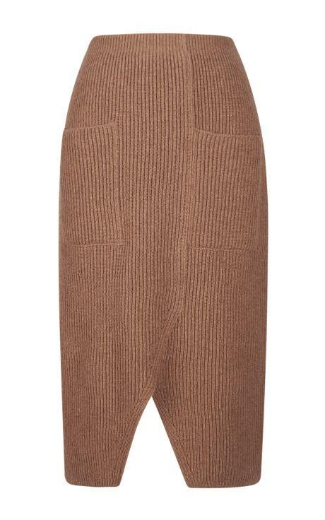 Contrast Color Rib Knit Skirt by Sonia Rykiel - Moda Operandi