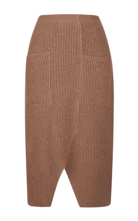 Contrast Color Rib Knit Skirt by Sonia Rykiel - Moda Operandi