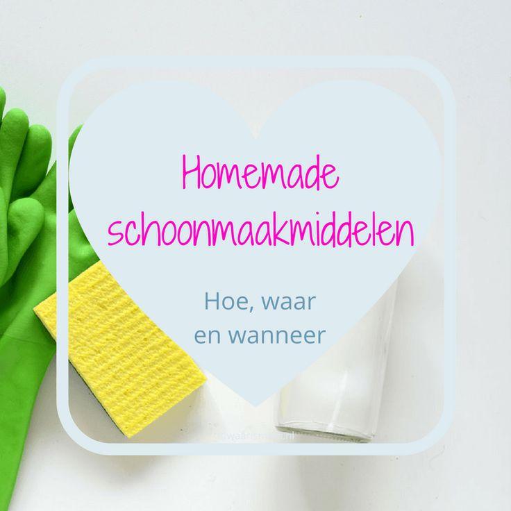Hoe, waar en wanneer gebruik je homemade schoonmaakmiddelen