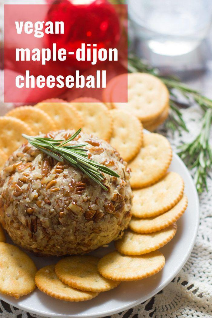 Vegan Maple Dijon Cheeseball Vegan Cheese Vegan Cheese Recipes Cashew Cheese