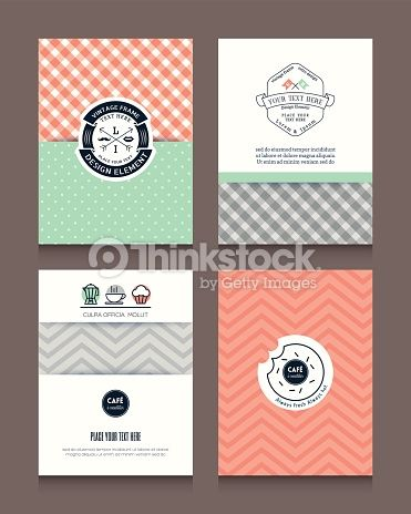 Vintage frames and backgrounds Design Template for Flyer Brochure Menu : Vektorgrafik
