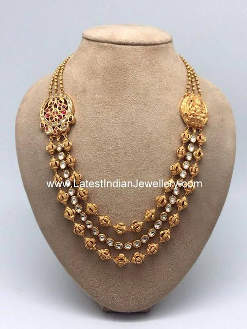 Nakshi Beads Step Necklace