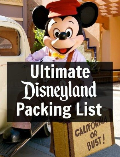 This Disneyland Packing List will help you to decide what to bring to Disneyland and what to wear to Disneyland. The Disneyland Packing list is essential.