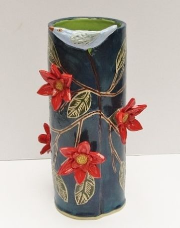 hand built ceramic vase