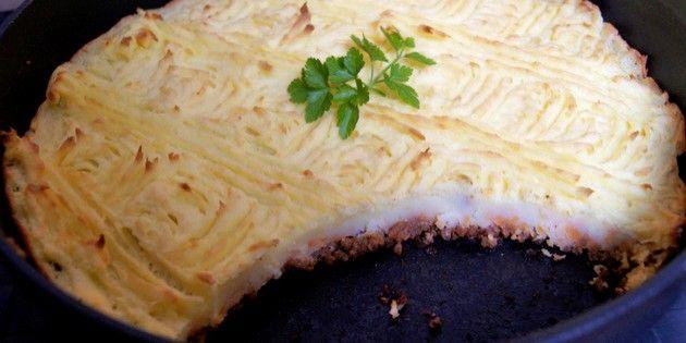 Under låget af kartoffelmos gemmer der sig lækker hakket oksekød
