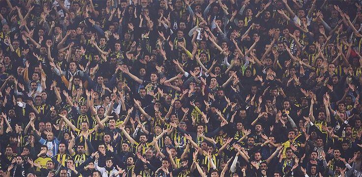 Fenerbahçe - Manchester United maçı. Fenerbahçe taraftarı.