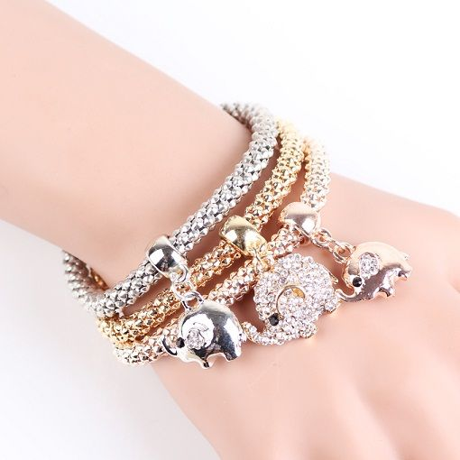 2016New Fashion Bracelets Bangles Jewelry Gold Silver Chain Bracelet owl crown Butterfly Elephant leaf Charm Bracelets For Women-in Charm Bracelets from Jewelry & Accessories on Aliexpress.com | Alibaba Group