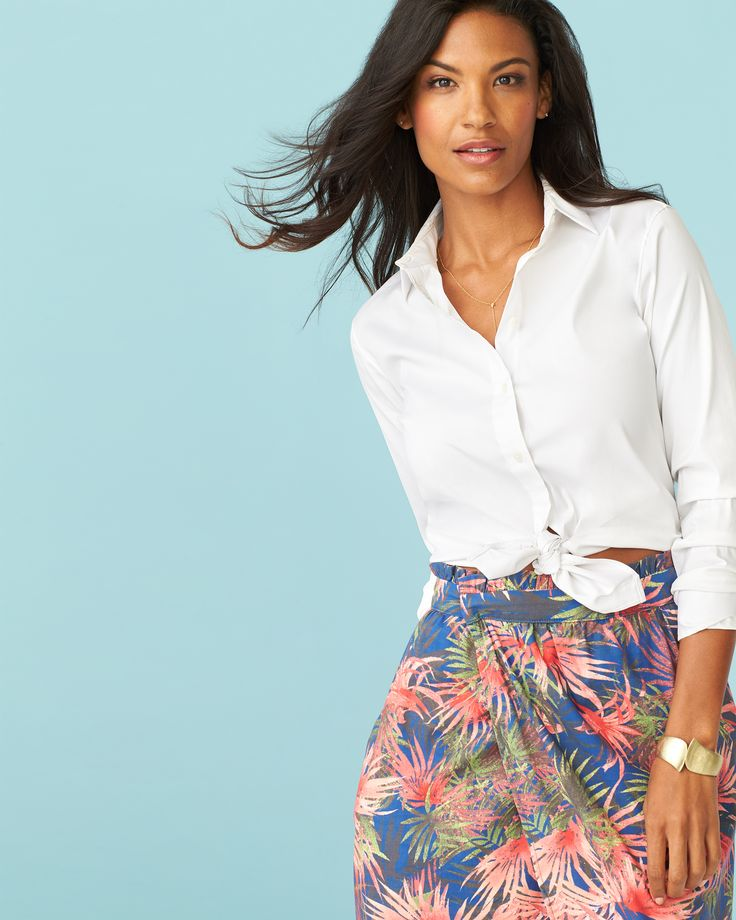 Mix up your button-up! With 6 ways to wear this closet staple, you'll never encounter a nothing-to-wear day again.
