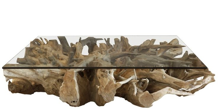 Teak Root Coffee Table with Glass | Weylandts Australia ...
