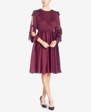 Catherine Catherine Malandrino Mena Tie-Sleeve Dress - Red 10