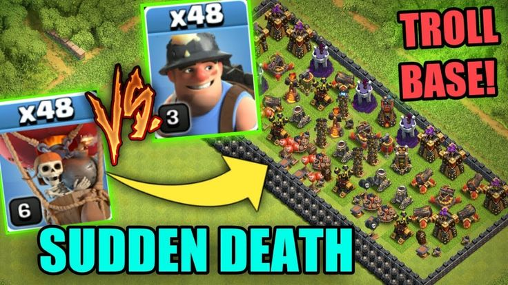MINER VS BALLOON | SUDDEN DEATH | CLASH OF CLANS - INSANE TROLL GAMEPLAY | 2017 MINER VS BALLOON SUDDEN DEATH CLASH OF CLANS 2017 Follow me on instagram: http://ift.tt/2hSUQJ4 Twitter: https://www.twitter.com/sahaaman6 __ Clash of Clans is an addictive multi-player game which consists of fast paced action combat. Build and lead your personalized armies through enemy bases taking gold elixir and trophy's to master the game and become a legend. Up-rise through the realms and join a clan to…