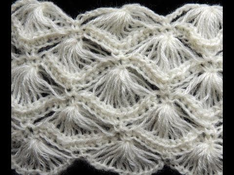 Crochet : Punto Abanico # 4 - YouTube