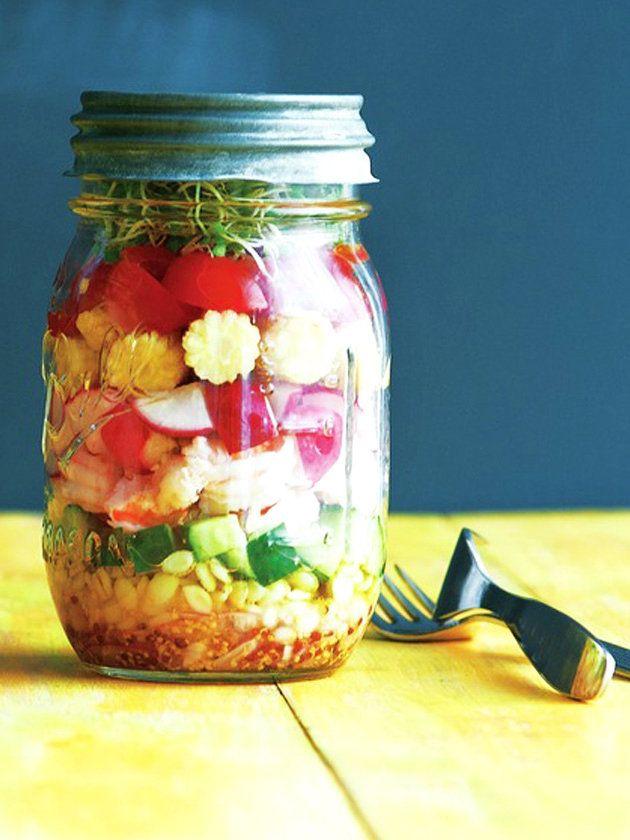 マスタードのプチプチ、麦の食感が◎!|『ELLE a table』はおしゃれで簡単なレシピが満載!