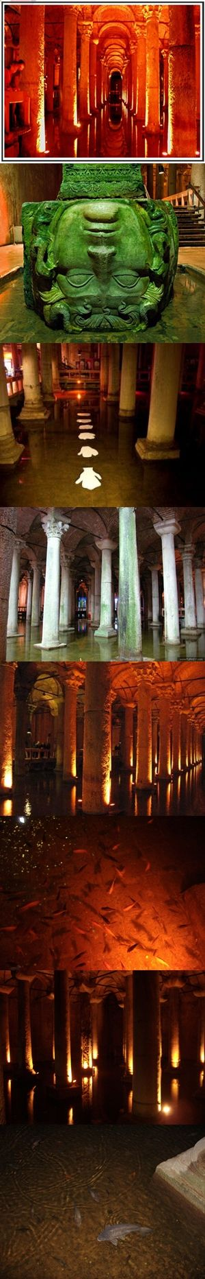 Basilica Cistern(yerebatan sarnıcı):  not much to it, but pretty cool to see and worth the 10lira.