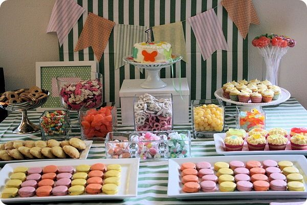 Candy party. First Birthday Ideas...