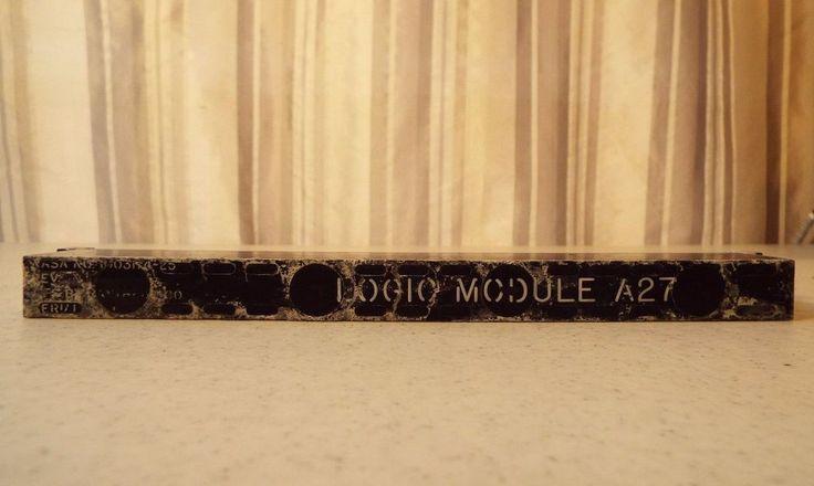 Vintage NASA Apollo Guidance Computer AGC Block One Logic Module A27   eBay