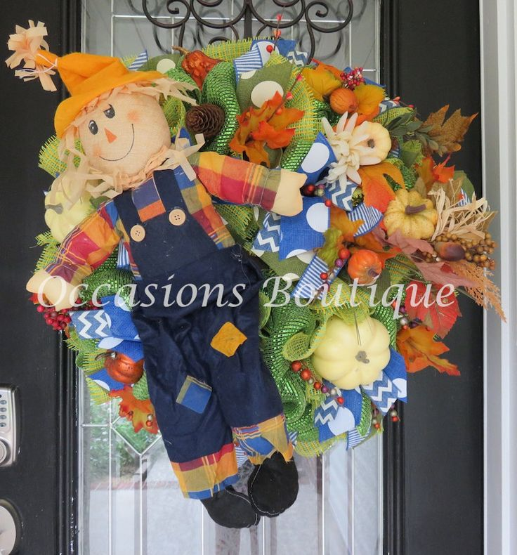 Fall Wreath, Fall Decoration, Front door wreath, Wreath for door, Deco Mesh Wreath, Ready to Ship by OccasionsBoutique on Etsy