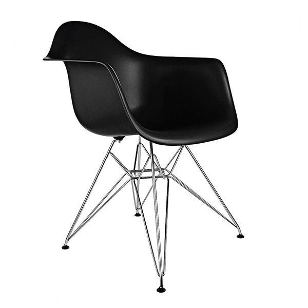 El Sillón Eames esta inspirado en el sillón DSW de Charles Eames,  uno de los modelos más populares del diseño de vanguardia del último siglo. El respaldo está fabricado en policarbonato y sus patas en acero cromado para que disfrutes de un  un diseño sencillo y funcional. Ideal para cabecera de mesa, comedor, oficina o donde más te guste.  Viene en varios colores!