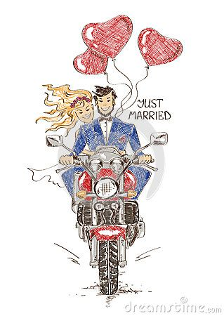 Wedding Couple Motorbike Stock Photos, Images, & Pictures – (67 Images)