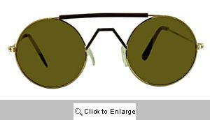 Mack Small Round Mirrored Sunglasses - 143B Silver/Gold