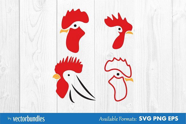 Rooster Chicken Head Clip Art Svg Clip Art Creative Art Art