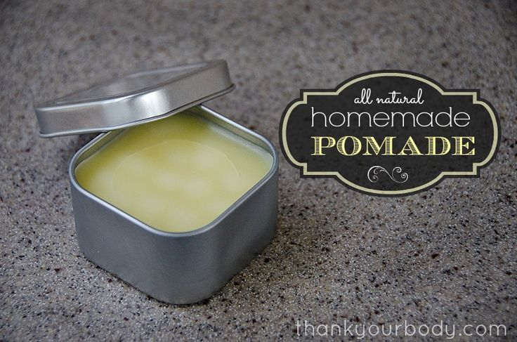 Awesome DIY tutorial: All natural homemade pomade. Perfect for styling my hair.