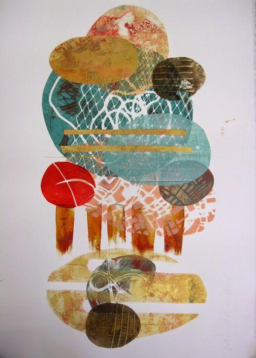 Jane Davies - collage journeys: Monoprint Collage At Pacific Northwest Art School