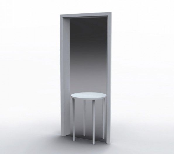 MirrorTable Front 595x528 Mirror Table for Porro | Front
