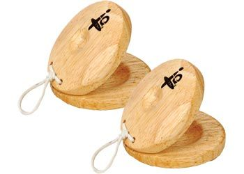 Castanet Natural. Each of these wooden finger castanets measures approximately 5.5cm in diameter