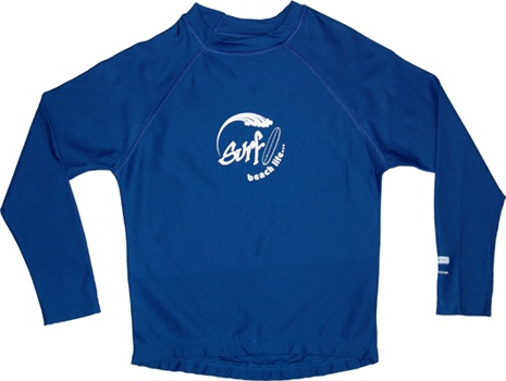 Repel Dry Long Sleeve Rashie! The revolutionary fabric repels water leaving the fibre's core dry when immersed in water. Unlike traditional rashies, these shirts will dry faster when out of the water leaving your kids warm & comfortable. UPF50+ in and out of the water. The shirt is designed to fit more like a long sleeve Tshirt.