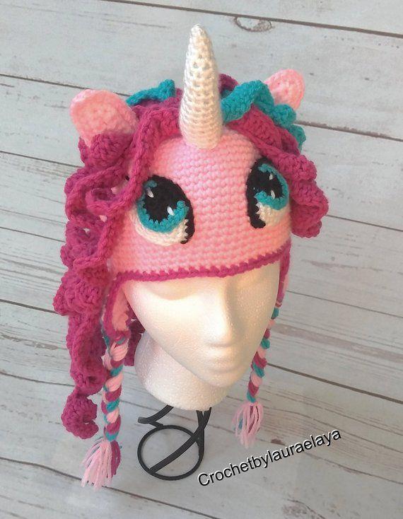 d1bd32b29 Crochet Unicorn hat, Pony hat, My Little Pony, Unicorn Photo Props ...