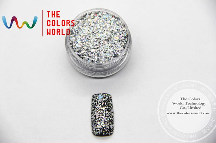 Laser Holographic Shinning Silver Color Small Mylar Flakes Glitter Sequins for nail art ,tatto,Art decoration and others DIY