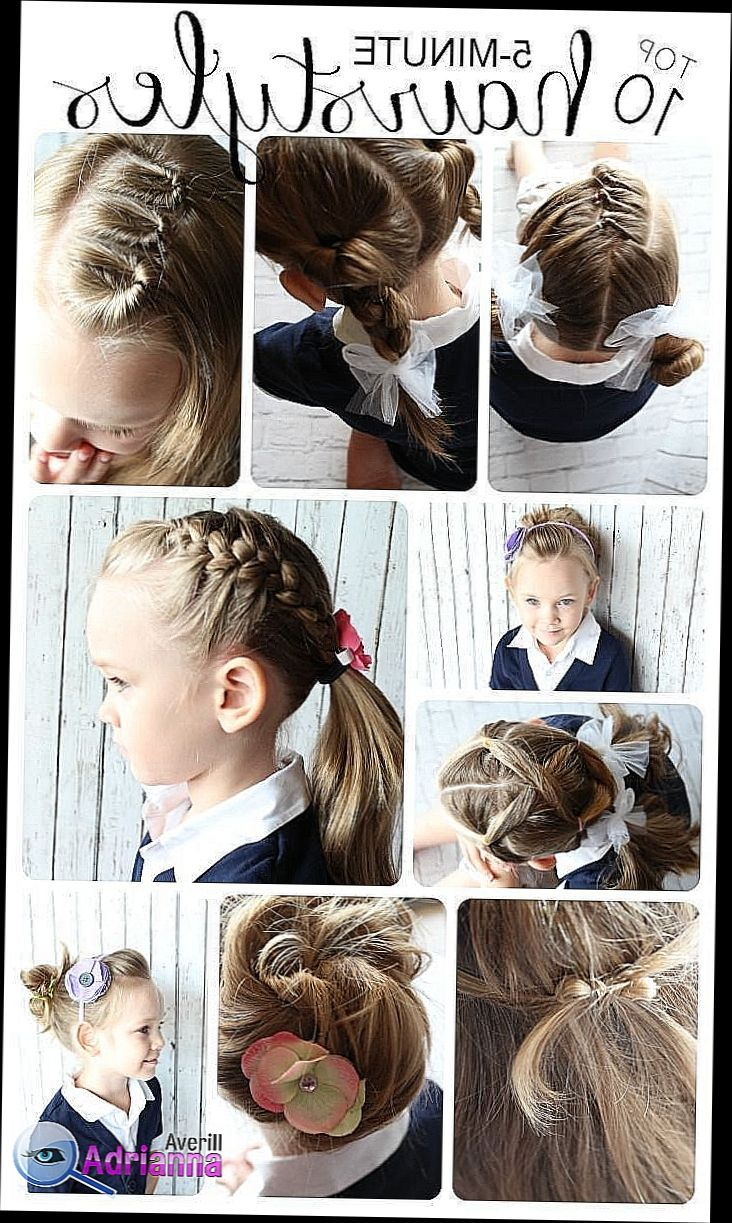 Easy Hairstyles For Short Hair To Do At Home Zzhairstyles Hairstyles Easy Hairstyles Easy Little Girl Hairstyles Little Girl Hairstyles Kids Hairstyles