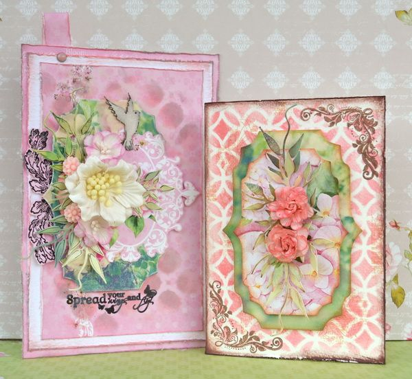 ScrapBerry's: Beautiful mixed media and romantic cards by Denise van Deventer.