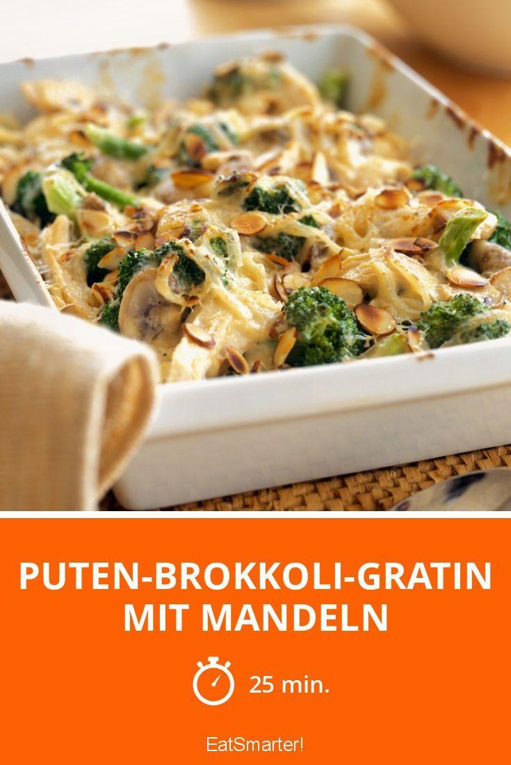 Puten-Brokkoli-Gratin mit Mandeln - smarter - Zeit: 25 Min.   eatsmarter.de