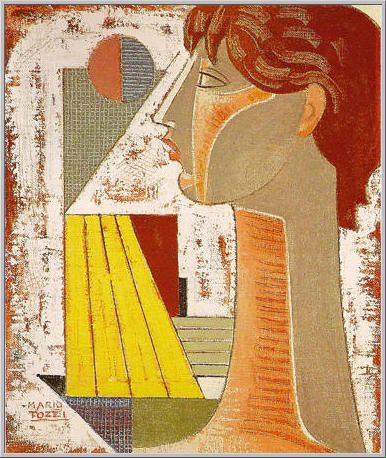 1972 Mario Tozzi: Testa. Olio su Tela cm.55x46 Collezione Privata - Archivio numero 297 - Catalogo Generale dei Dipinti n.72/69.