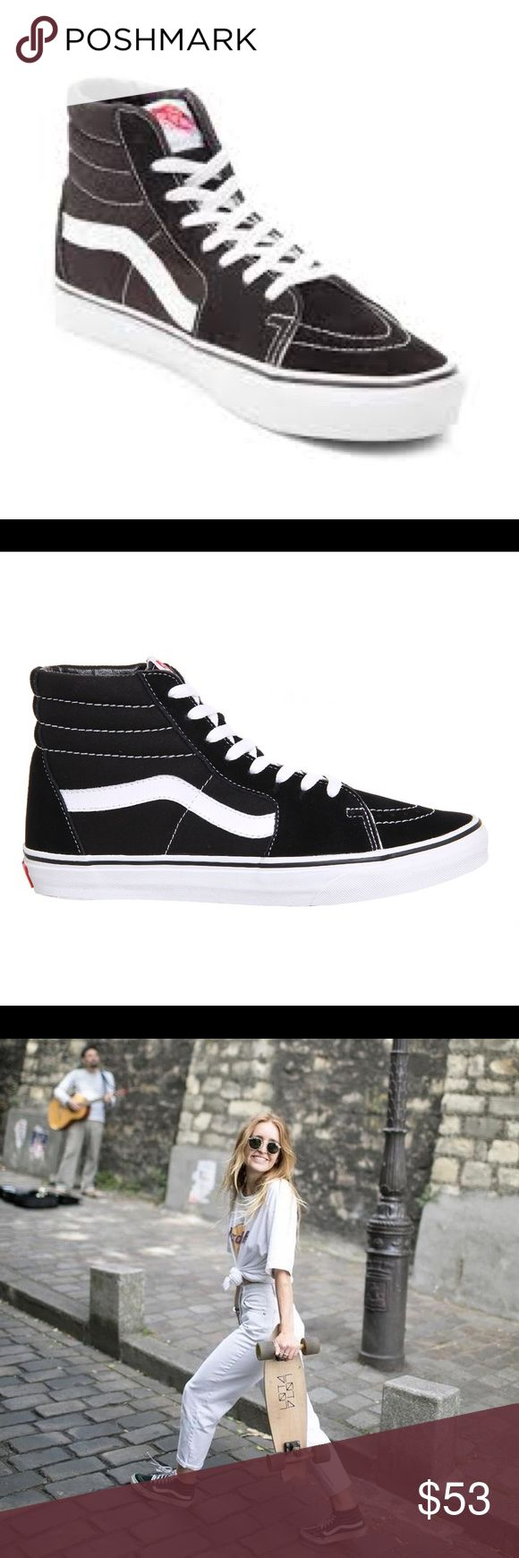 Vans Hi Sk8 Slim, Size 5, New With Box Vans The Sk8-Hi Slim, a slimmed down version of the legendary lace-up high top, features sturdy canvas and suede uppers, signature waffle rubber outsoles, and padded collar and heel counters for support and flexibility. - Brand new, never been worn-Not my style Vans Shoes Sneakers
