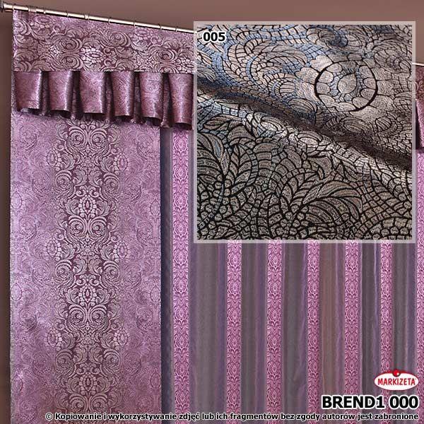 #Nowoczesne_zasłony  Piękna tkanina o  gęstym, grubym splocie, wykonana z najwyższej jakości przędzy. Idealna do szycia zasłon, lambrekinów ale również poszewek i innych dodatków tekstylnych. Kolor szaro-niebieski. Ładnie prezentuje sie z firankami o podobnym wzorze. (pokazany w elementach powiązanych) wysokość: 295 cm  kolor: szaro-niebieski przepuszczalność światła: mała Możesz zlecić szycie w naszej profesjonalnej szwalni ceny już od 2,50 zł/mb.  kasandra.com.pl