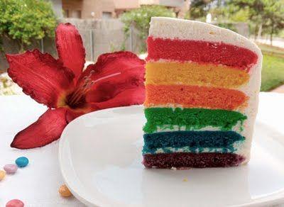 Mi primer Rainbow Cake = Un ataque de felicidad completa