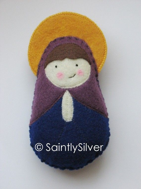 Saint Hannah Felt  Saint Softie by SaintlySilver on Etsy, $18.00