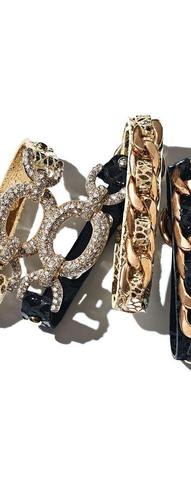Tasha Link & Leather Bracelets